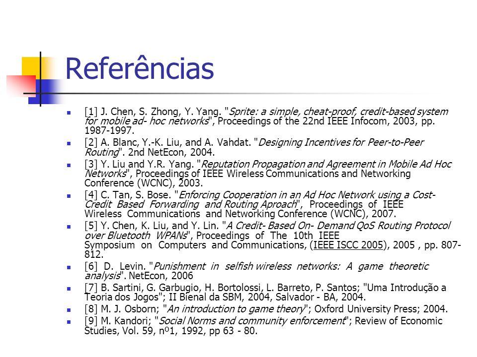 Referências [1] J. Chen, S. Zhong, Y. Yang.