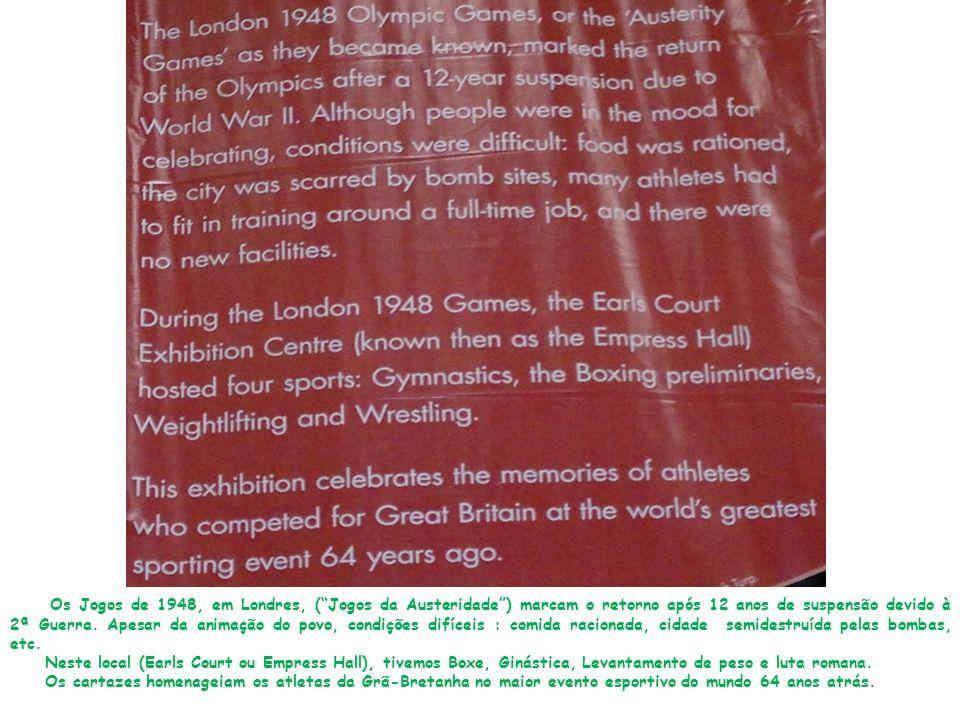 Os Jogos de 1948, em Londres, (Jogos da Austeridade) marcam o retorno após 12 anos de suspensão devido à 2ª Guerra.