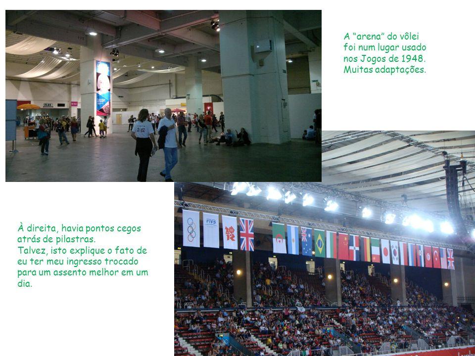 A arena do vôlei foi num lugar usado nos Jogos de 1948.