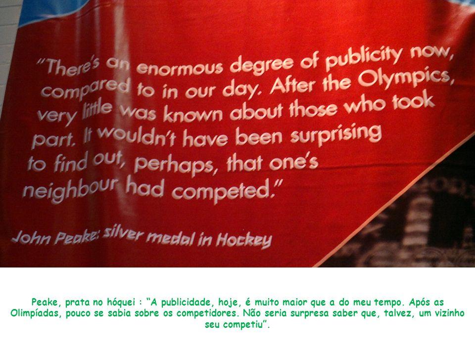 Peake, prata no hóquei : A publicidade, hoje, é muito maior que a do meu tempo.