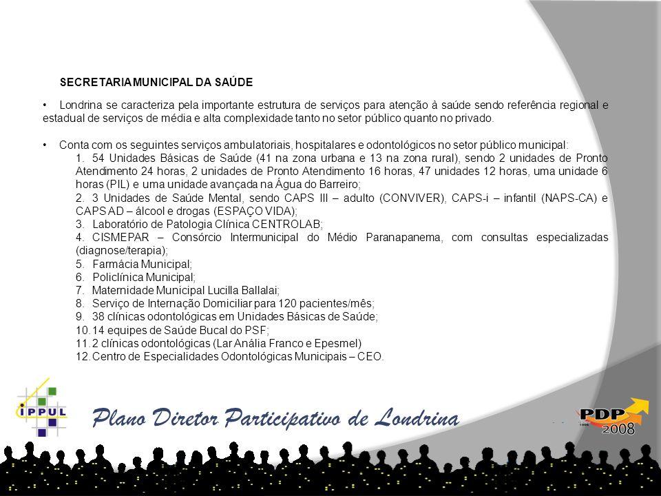 SECRETARIA MUNICIPAL DA SAÚDE Londrina se caracteriza pela importante estrutura de serviços para atenção à saúde sendo referência regional e estadual