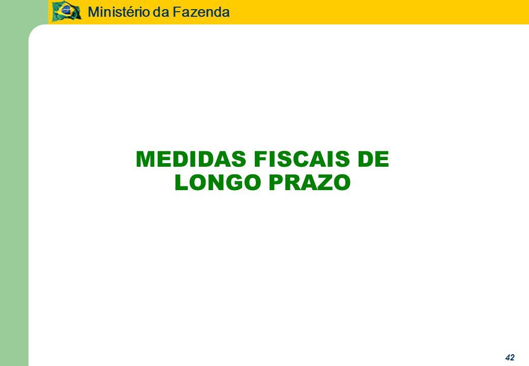 Ministério da Fazenda 42 MEDIDAS FISCAIS DE LONGO PRAZO