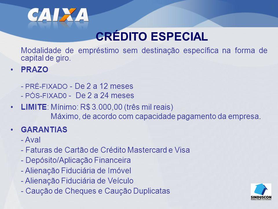 CRÉDITO COM GARANTIA DE AVAL E COMPLEMENTAR COM F.