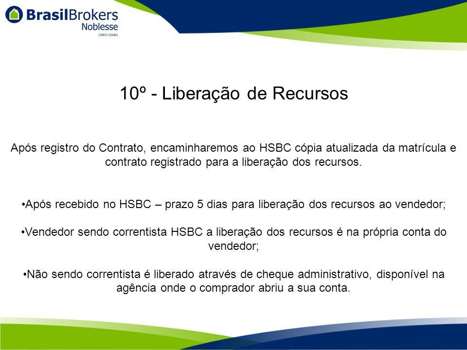 Após registro do Contrato, encaminharemos ao HSBC cópia atualizada da matrícula e contrato registrado para a liberação dos recursos.