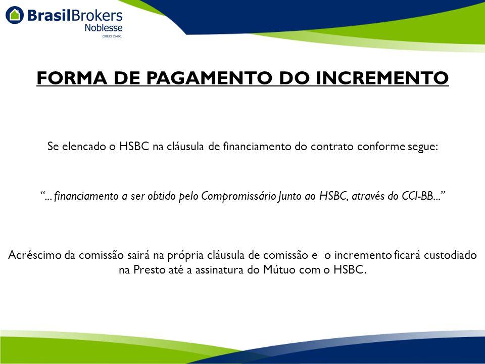Se elencado o HSBC na cláusula de financiamento do contrato conforme segue:...