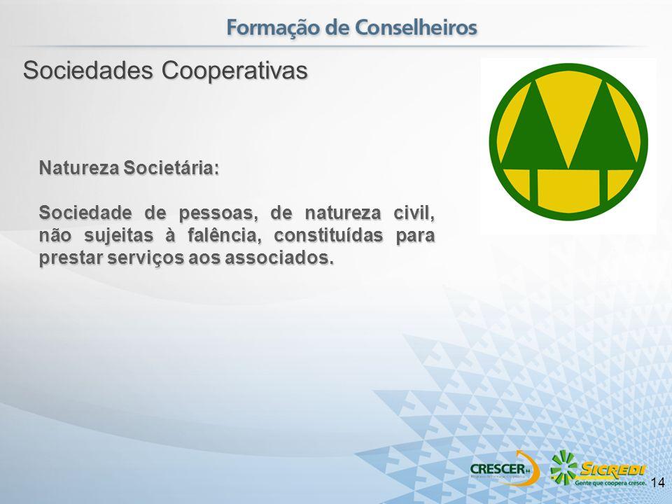 Natureza Societária: Sociedade de pessoas, de natureza civil, não sujeitas à falência, constituídas para prestar serviços aos associados. Sociedades C