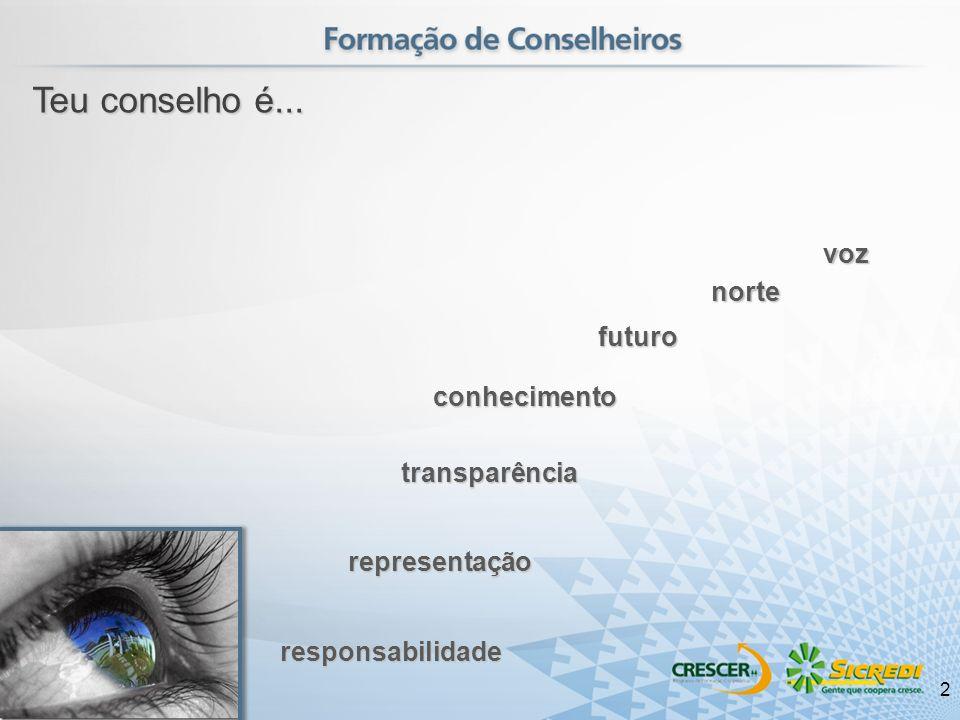 Teu conselho é... transparência futuro conhecimento voz norte responsabilidade representação 2