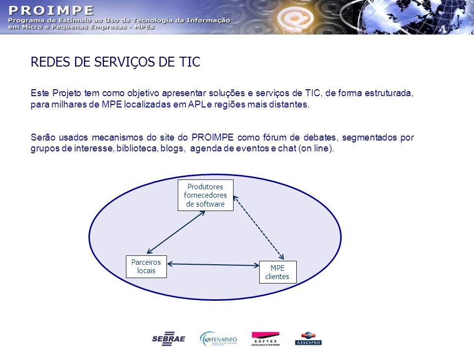 Este Projeto tem como objetivo apresentar soluções e serviços de TIC, de forma estruturada, para milhares de MPE localizadas em APL e regiões mais dis