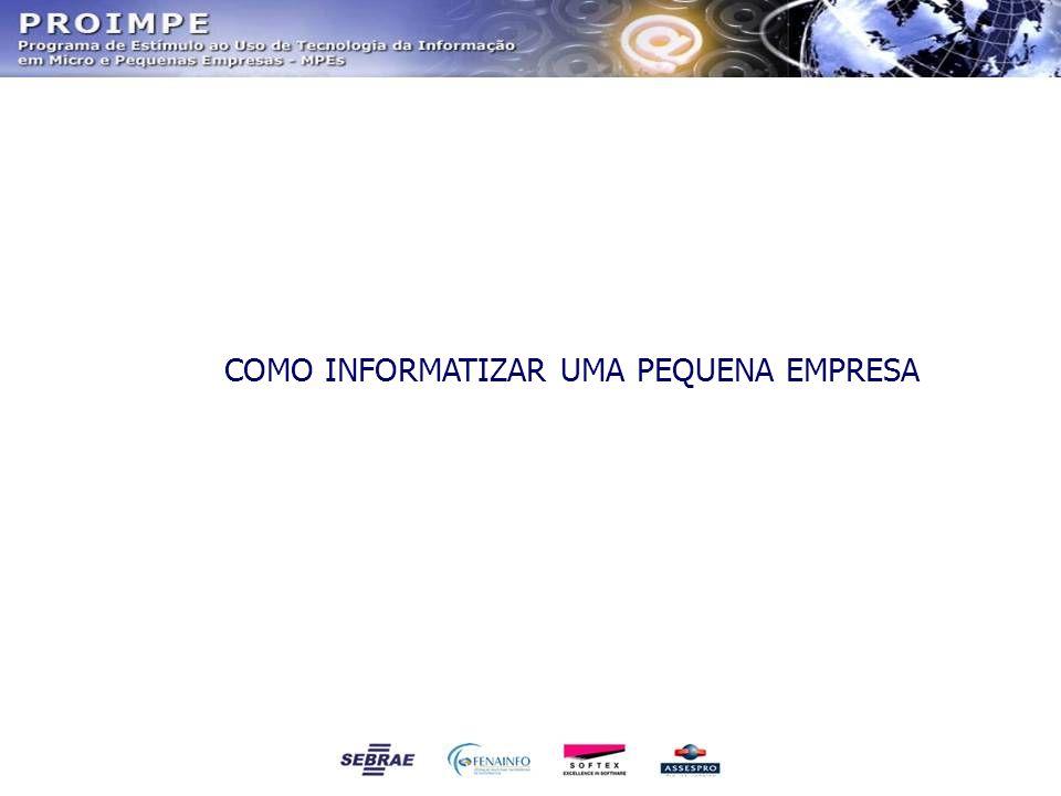 INFORMATIZANDO UMA PEQUENA EMPRESA Por que e como uma pequena empresa deve informatizar seus serviços e produtos.