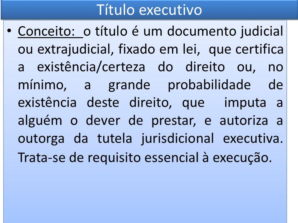O titulo executivo possui tríplice função, quais sejam: a) autorizar a execução; b) definir seus fins; e, c) fixar seus limites.