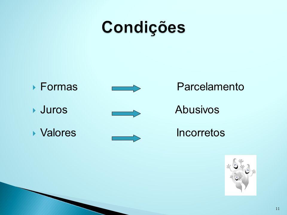 Formas Parcelamento Juros Abusivos Valores Incorretos 11