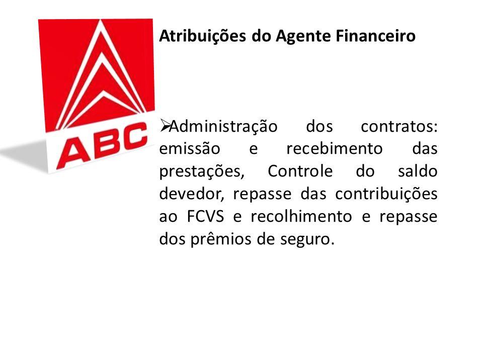 Administração dos contratos: emissão e recebimento das prestações, Controle do saldo devedor, repasse das contribuições ao FCVS e recolhimento e repasse dos prêmios de seguro.