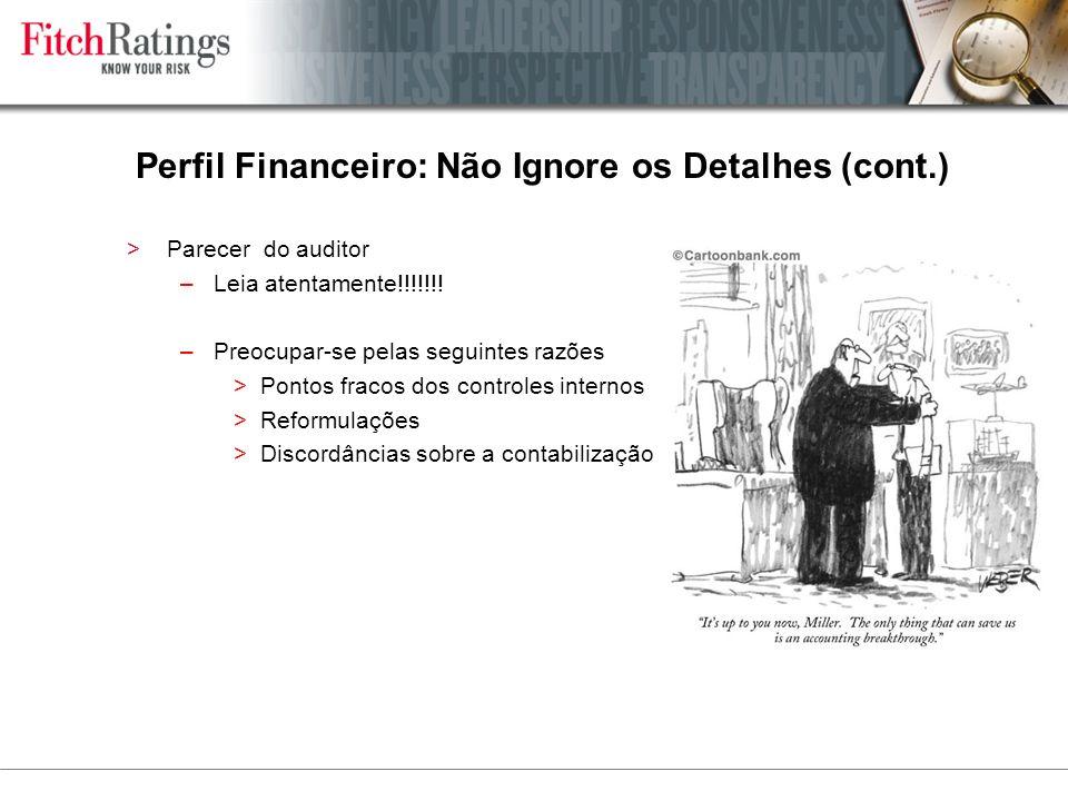 >Parecer do auditor –Leia atentamente!!!!!!.