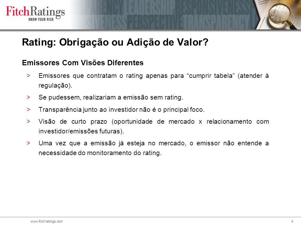 www.fitchratings.com4 >Emissores que contratam o rating apenas para cumprir tabela (atender à regulação).