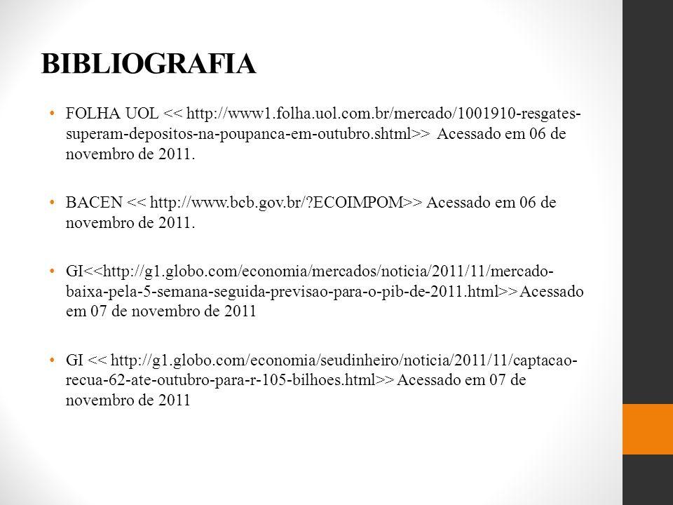 BIBLIOGRAFIA FOLHA UOL > Acessado em 06 de novembro de 2011.