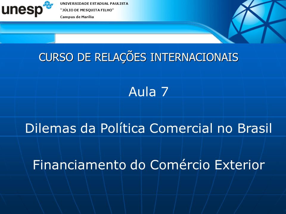 O papel do crédito oficial às exportações O apoio às exportações pode representar um importante instrumento de política industrial.