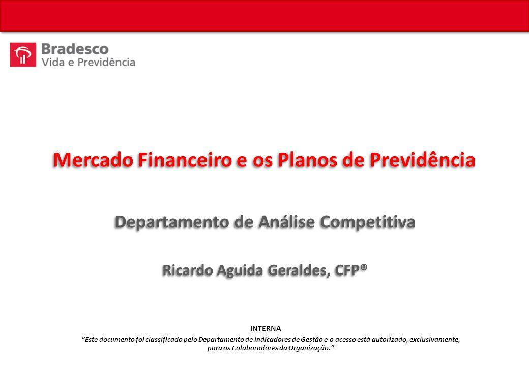 Mercado Financeiro e os Planos de Previdência Departamento de Análise Competitiva Ricardo Aguida Geraldes, CFP® Este documento foi classificado pelo Departamento de Indicadores de Gestão e o acesso está autorizado, exclusivamente, para os Colaboradores da Organização.