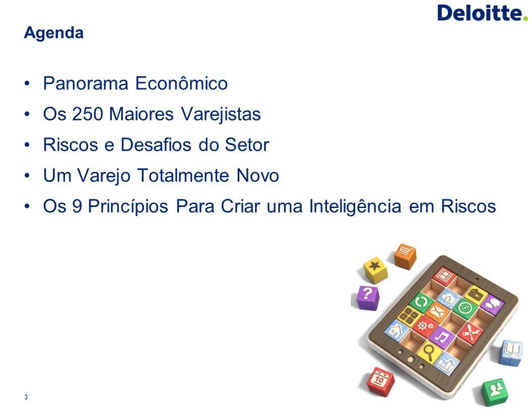 Agenda Panorama Econômico Os 250 Maiores Varejistas Riscos e Desafios do Setor Um Varejo Totalmente Novo Os 9 Princípios Para Criar uma Inteligência e