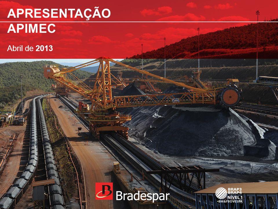 Institucional APRESENTAÇÃO APIMEC ABRIL 2013 A BRADESPAR é uma Companhia de Investimentos que se destaca pela defesa de uma Governança Corporativa moderna nas empresas em que detém participação.