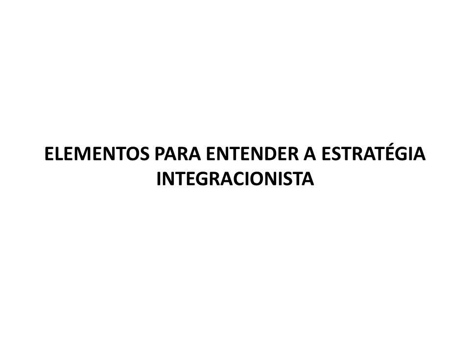 ELEMENTOS PARA ENTENDER A ESTRATÉGIA INTEGRACIONISTA