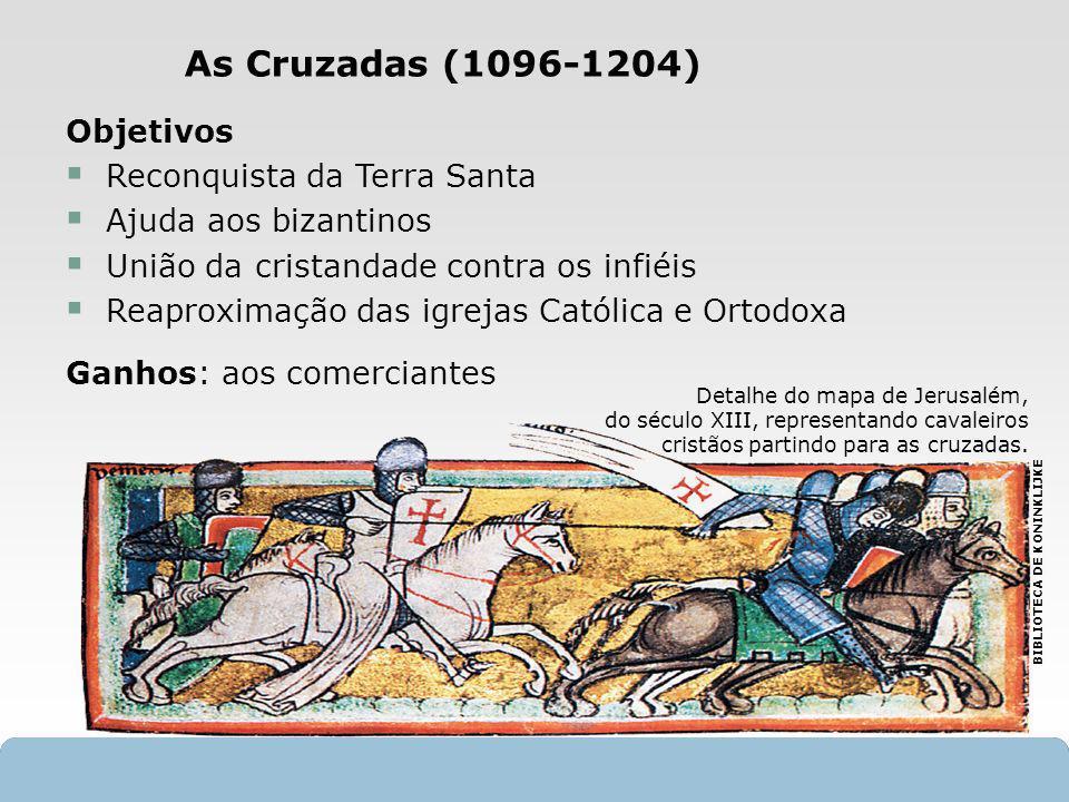 X SAIR Objetivos Reconquista da Terra Santa Ajuda aos bizantinos União da cristandade contra os infiéis Reaproximação das igrejas Católica e Ortodoxa