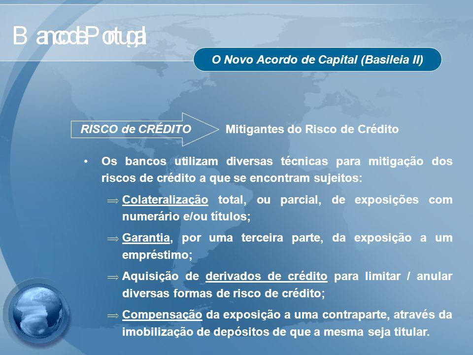 O Novo Acordo de Capital (Basileia II) RISCO de CRÉDITO Mitigantes do Risco de Crédito Os bancos utilizam diversas técnicas para mitigação dos riscos