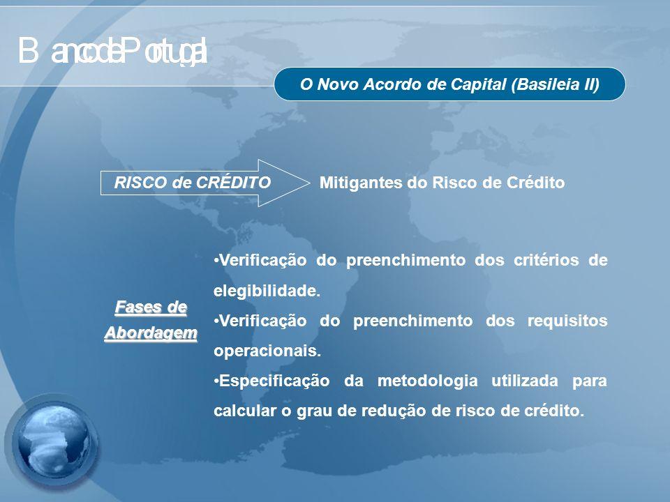 O Novo Acordo de Capital (Basileia II) RISCO de CRÉDITO Mitigantes do Risco de Crédito Verificação do preenchimento dos critérios de elegibilidade. Ve