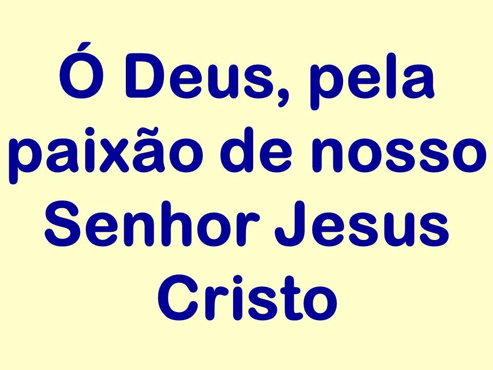 Ó Deus, pela paixão de nosso Senhor Jesus Cristo