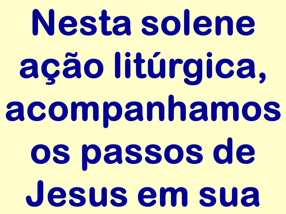 Nesta solene ação litúrgica, acompanhamos os passos de Jesus em sua
