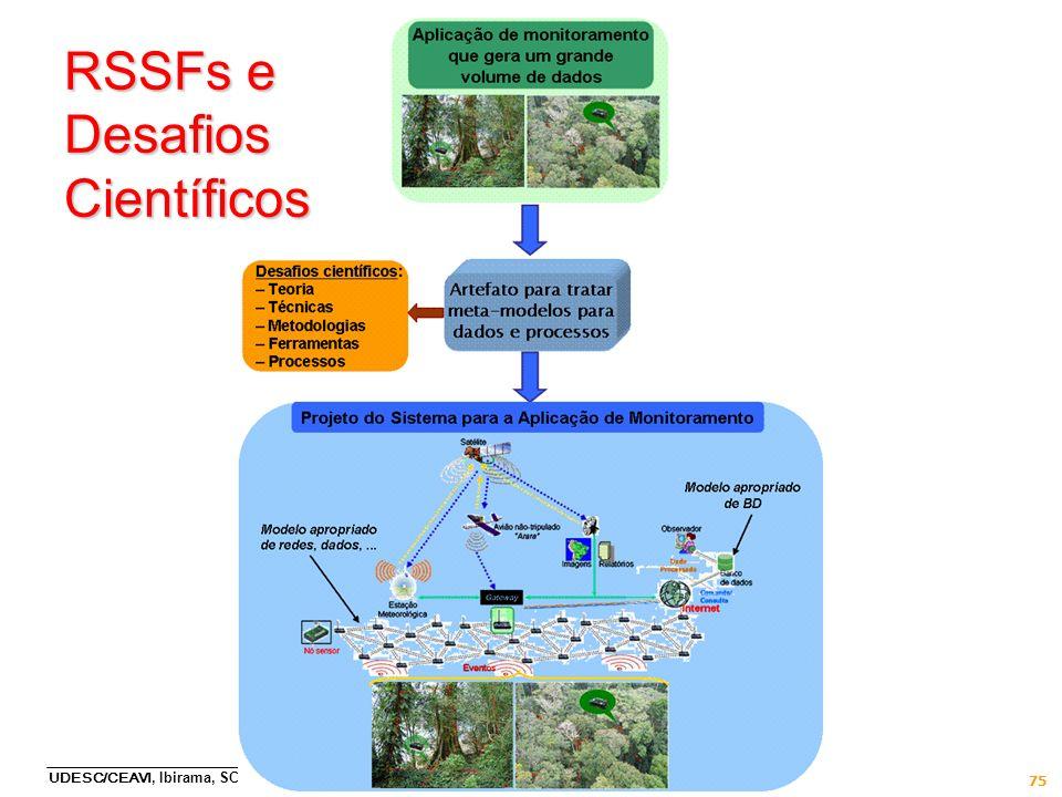 UDESC/CEAVI, Ibirama, SC, 27/9/2011 75 RSSFs e Desafios Científicos