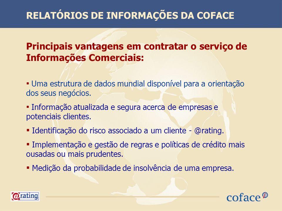 Principais vantagens em contratar o serviço de Informações Comerciais: Uma estrutura de dados mundial disponível para a orientação dos seus negócios.