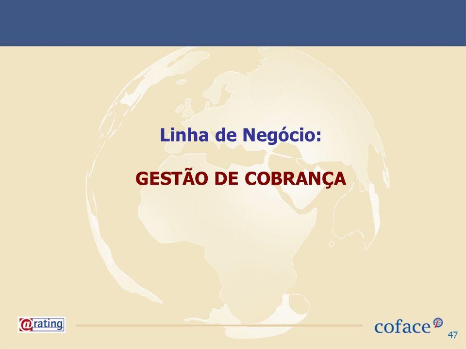 47 Linha de Negócio: GESTÃO DE COBRANÇA