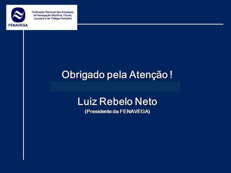 Obrigado pela Atenção ! Luiz Rebelo Neto (Presidente da FENAVEGA)