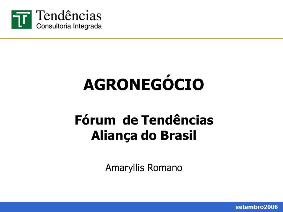 AGRONEGÓCIO Fórum de Tendências Aliança do Brasil Amaryllis Romano setembro2006