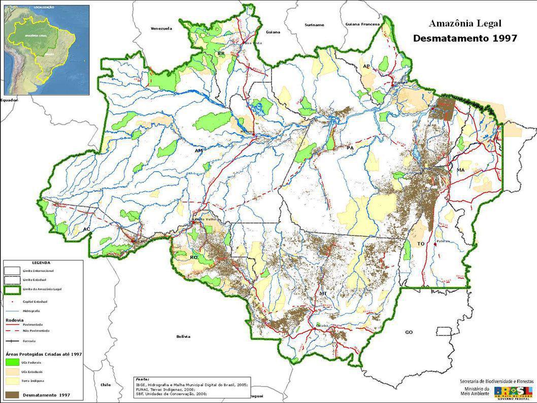 Integrar as políticas setoriais, diminuindo a dispersão e conflito entre elas Apontar para a direção de um novo modelo de desenvolvimento na Amazônia bases para o Plano Amazônia Sustentável – PAS Objetivo das Ações do Governo Federal para a Amazônia