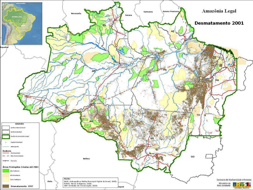 Alertas de Desmatamento do DETER 2008: Plano de Ação para a Prevenção e Controle do Desmatamento da Amazônia – PPCDAm