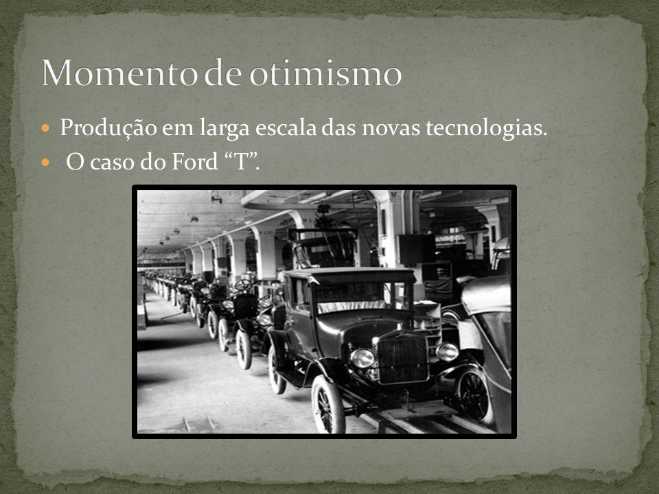 Produção em larga escala das novas tecnologias. O caso do Ford T.