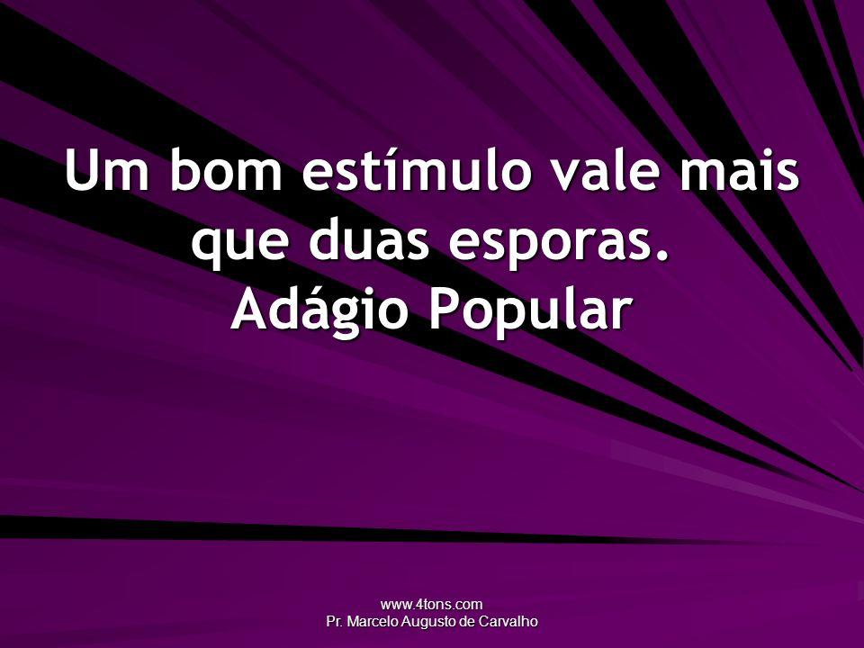 www.4tons.com Pr. Marcelo Augusto de Carvalho Um bom estímulo vale mais que duas esporas. Adágio Popular