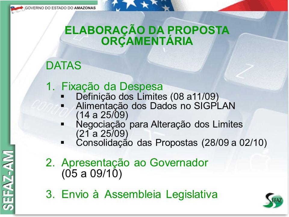 12 Governo do Estado do Amazonas Secretaria de Estado da Fazenda – SEFAZ Orçamento 2008 Governo do Estado do Amazonas Secretaria de Estado da Fazenda