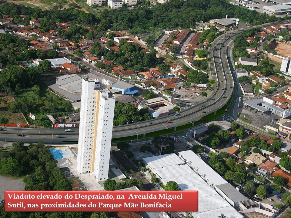 Viaduto elevado do Despraiado, na Avenida Miguel Sutil, nas proximidades do Parque Mãe Bonifácia