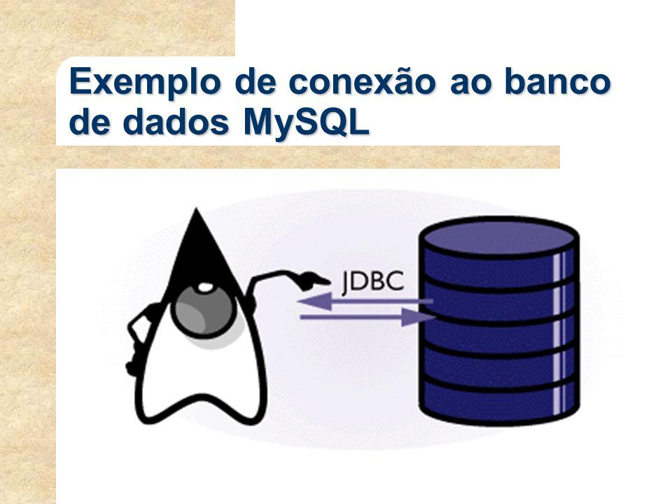 Exemplo de conexão ao banco de dados MySQL