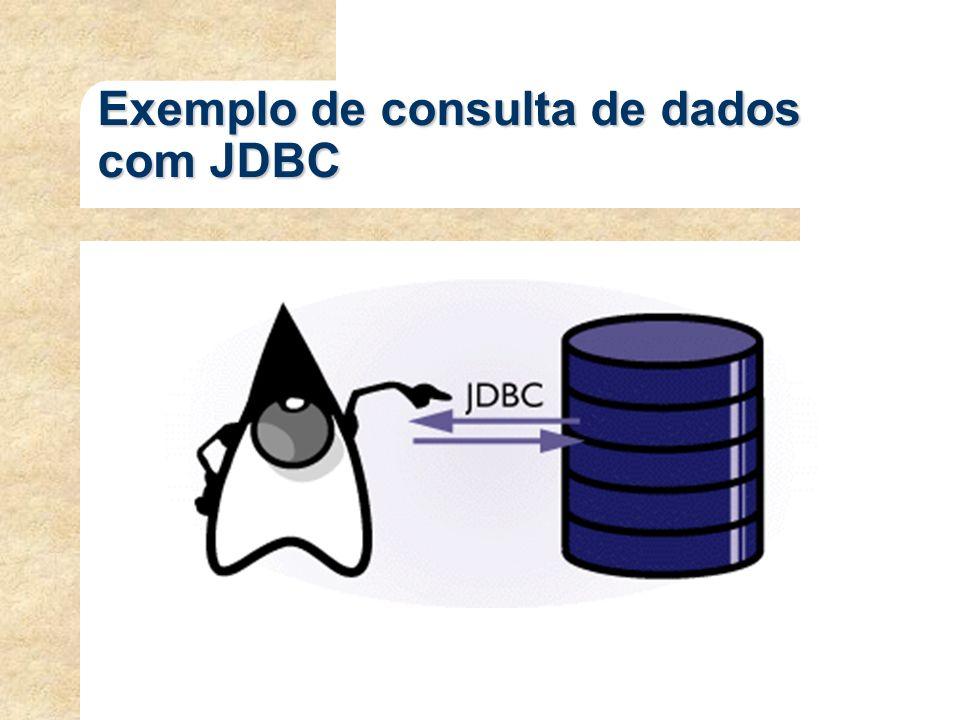 Exemplo de consulta de dados com JDBC