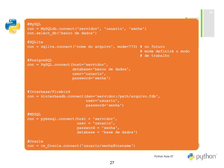 27 Python Aula 07
