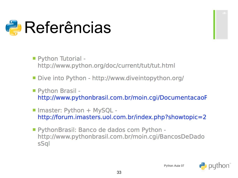 33 Referências Python Aula 07