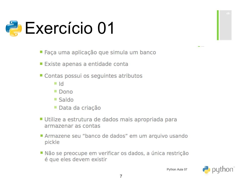 7 Exercício 01 Python Aula 07