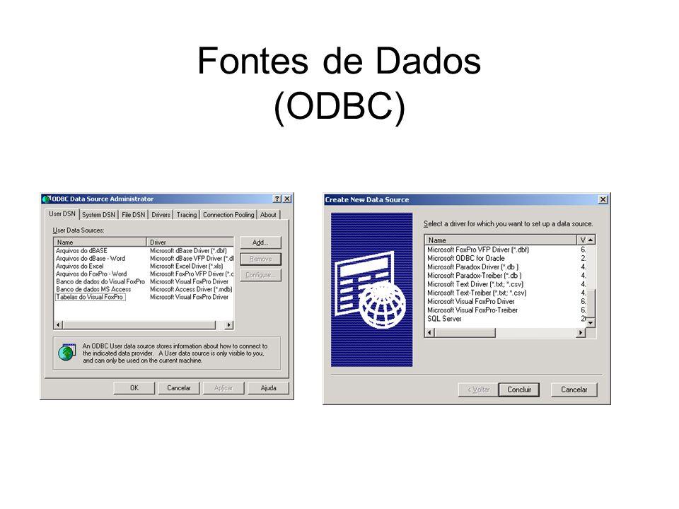 Fontes de Dados (ODBC)