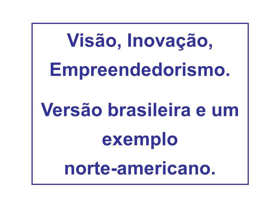 Visão, Inovação, Empreendedorismo. Versão brasileira e um exemplo norte-americano.
