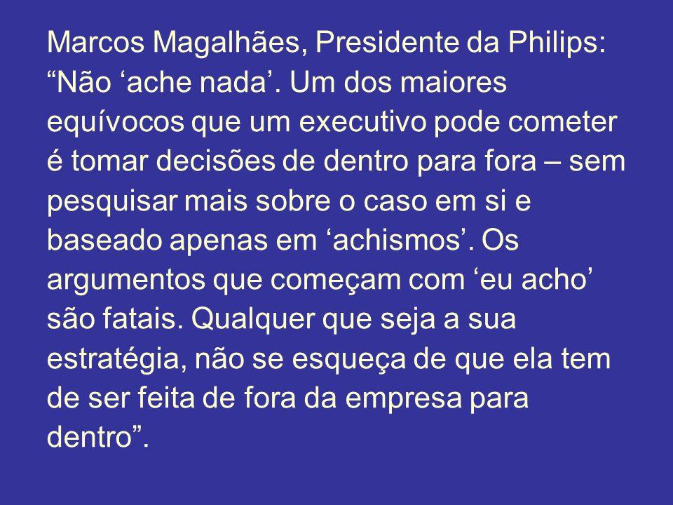 Marcos Magalhães, Presidente da Philips: Não ache nada. Um dos maiores equívocos que um executivo pode cometer é tomar decisões de dentro para fora –