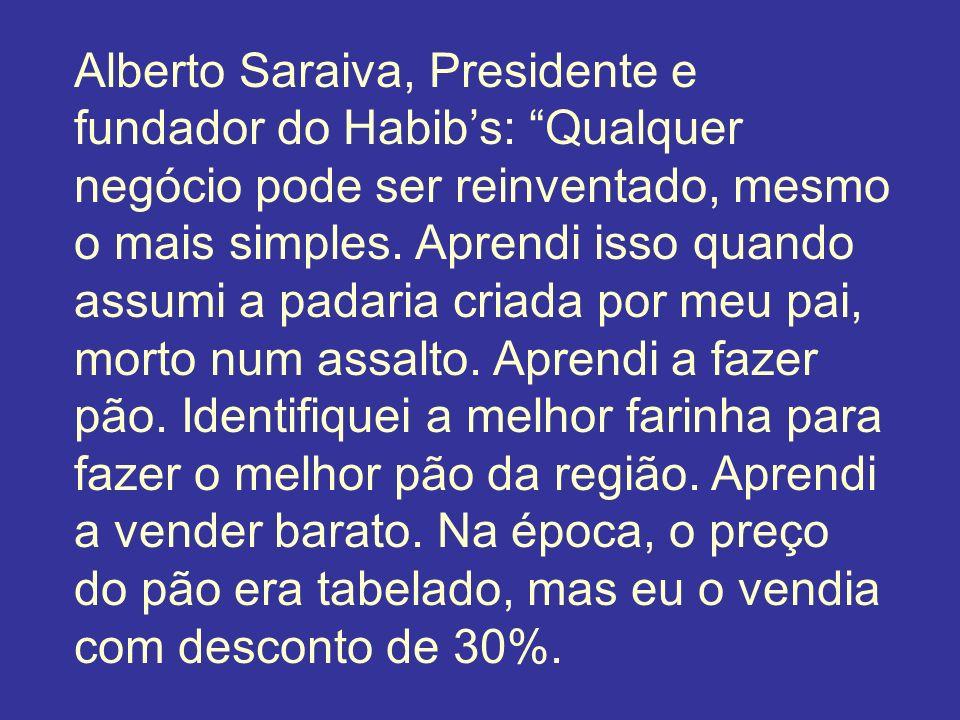 Alberto Saraiva, Presidente e fundador do Habibs: Qualquer negócio pode ser reinventado, mesmo o mais simples. Aprendi isso quando assumi a padaria cr