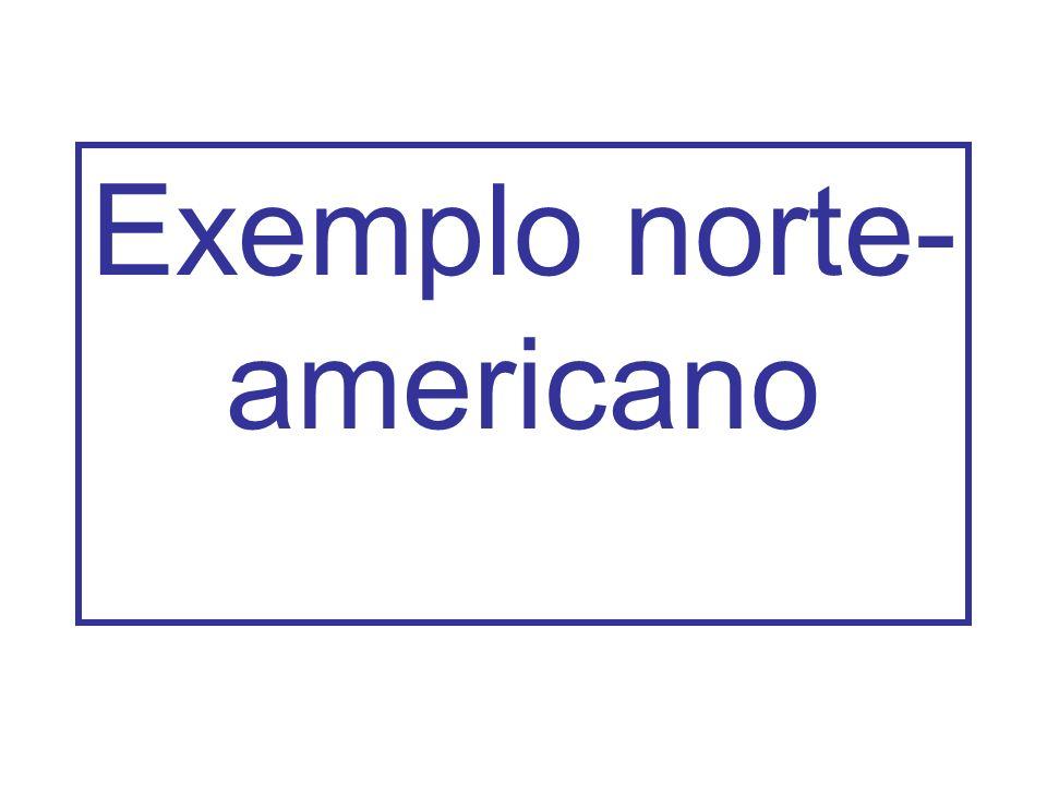 Exemplo norte- americano